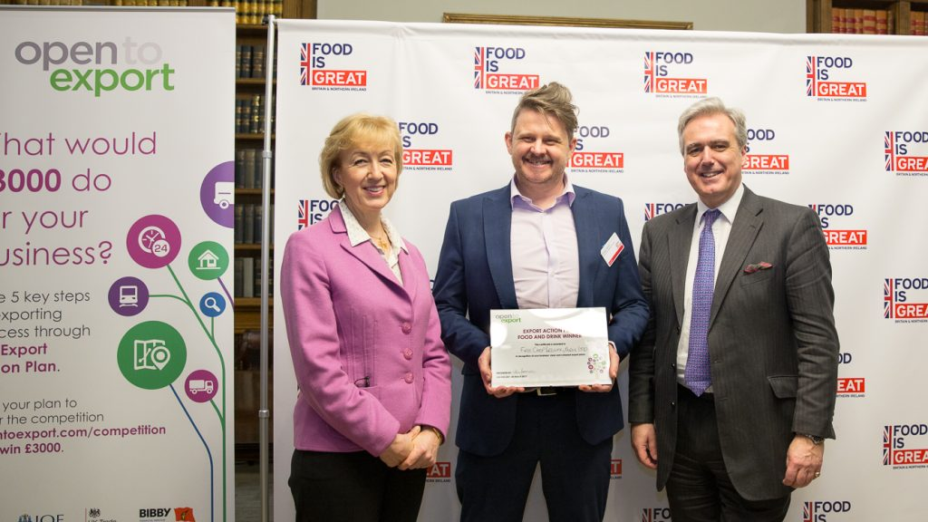 export action plan winner food and drink