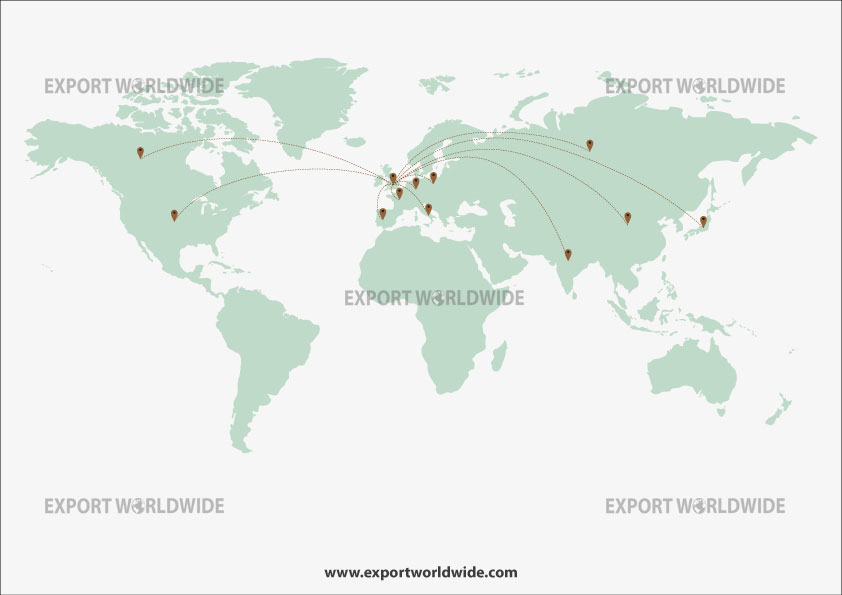 overseas marketing map