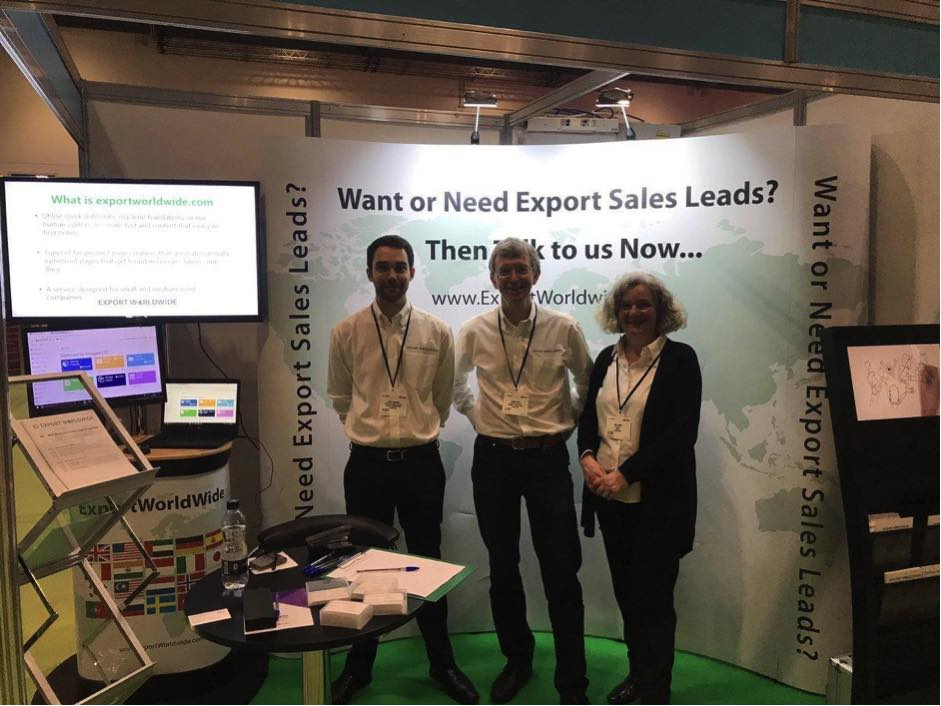 export worldwide at a tradeshow