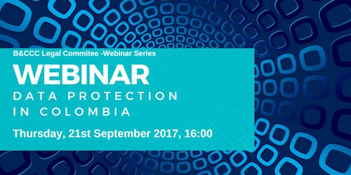 Data protection webinar by the British & Colombian Chamber of Commerce