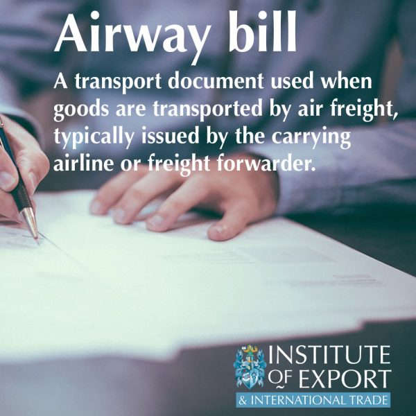 what is an airway bill